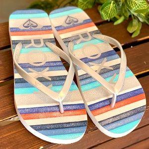 Roxy® Tahiti VII Striped Flip Flop sandals